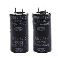 2Pcs Super Capacitor 2.7V 100F Ultra Capacitor Farad H