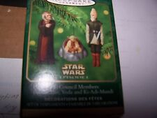Star Wars Council members Hallmark ornaments set of 3