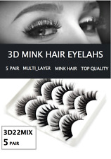 5 Pair MULTI-LAYER Eyelash Long Thick Mixed Fake Eye Lashes Makeup Mink 3D22 MIX