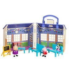 Peppa Pig School Playset Zoe Zebra Madame Gazelle Bell Carry-and-Go Fun Toy Set