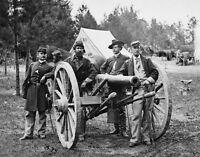 Union Soldiers with Artillery Peninsula Fair Oaks, VA -8x10 US Civil War Photo