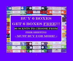 SATYA NAG CHAMPA INCENSE STICKS 15g BUY 6 BOXES GET 6 BOXES FREE