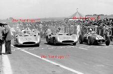 Juan-Manuel Fangio & Kling & Alberto Ascari Francés Grand Prix 1954 fotografía