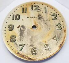 Waltham 8 day car aviation clock dial 60 mm some wear F597