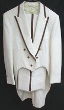 Men's Vintage Ivory Tuxedo Tailcoat with Pants 1970's Retro Wedding Prom 42R