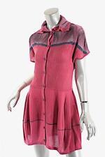 YOSHI YOSHI by PJ Fuchsia Lyocel Blend BD Knit Tunic Dress  Sz S  NWT  $419
