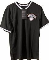 NBA New York Knicks Small Black Jersey Mesh Shirt Size S V-neck T-shirt