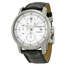 Baume and Mercier Classima Automatic   BlackLeather Mens Watch MOA8591