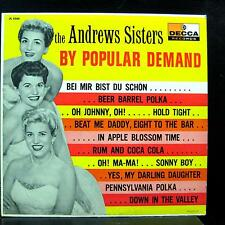 ANDREWS SISTERS by popular demand LP VG+ DL 8360 Decca Mono 1st Vinyl Record