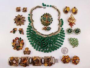 GORGEOUS Vintage Mod Rhinestone Jewelry LOT Austria Juliana+