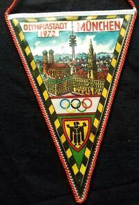 1972 Summer Olympics Munich PENNANT WIMPEL