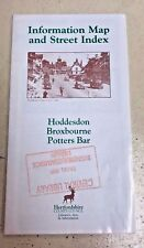 Information Map and Street Index of Hoddesdon, Broxbourne, Potters Bar