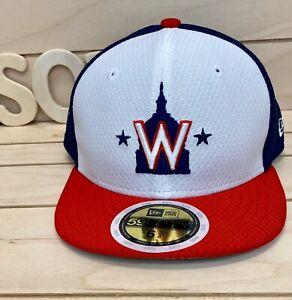 New Era  Washington Nationals ALT 2 Fitted Cap Navy/White/Red Sz Kids 6 3/8 USA