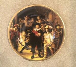 Vintage - Argyle Gold Rimmed 'Four Musketeers' Picture Plate - Fine Bone China