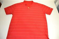 NIKE GOLF RED WHITE STRIPED DRY FIT POLO SHIRT MENS SIZE 2XL XXL