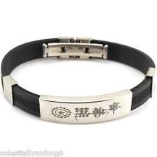 Anime Black Butler Ⅱ Sebastian Ciel Contract Silicone Bracelet Wristband Bangle