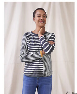 White Stuff Cassie Crew Navy Multi Size 16 New With Tags