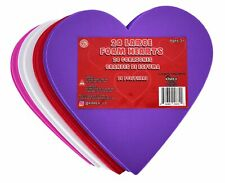 Kinrex Valentine's Day Foam Hearts – Multicolor Large Foam Heart Shapes