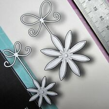 MEMORY BOX ~ PRECiOUS DAiSIES ~ THiN 71&61mm CUTTiNG DiES ~ FLOWERS & BOWS ~