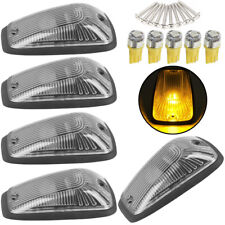 5 Cab Marker Roof Light Smoke + 5X 5050 Amber LED+Base for GMC/Chevy C1500-3500