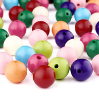 105x Round Bubblegum Chunky Acrylic Beads Opaque Loose Spacer Beads Craft 20x3mm
