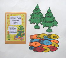 Teacher Made Math Center Educational Learning Resource Game Even & Odd Numbers
