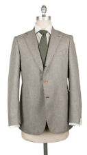 $3600 Luigi Borrelli Gray Virgin Wool Solid Suit - (201803081)