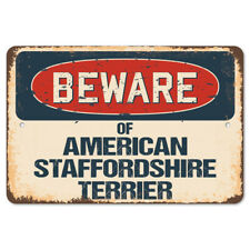 Beware Of American Staffordshire Terrier Rustic Sign Classic Decoration