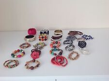 LADIES MIXED LOTS BRACELETS.COSTUME JEWELLERY. TOPSHOP,D PERKINS, BINNS, PRIMARK
