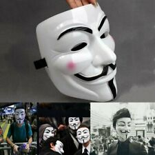V for Vendetta Mask Halloween Guy Fawkes Anonymous Cosplay Fancy Dress Costume