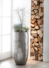 Übertopf Pflanzeinsatz Pflanztopf Blumentopf Pflanzsäule Bodenvase silber 72cm