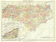 1839 NC MAP ANSON ASHE AVERY BEAUFORT BERTIE COUNTY North Carolina HIstory HUGE