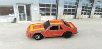 Rare Vintage Ertl Replica Ford Mustang GT Orange 1:64 Die-cast Car -missing tire