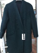 BNWT ZARA MOHAIR & WOOL MIX DARK / BOTTLE GREEN COAT JACKET SIZE L RRP £99