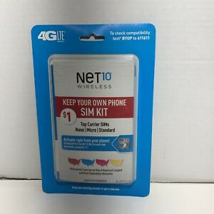 Net 10 Bring Your Own Phone Activation Sim Card Kit, 3-in-1 SIMs, 4G LTE