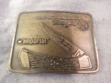 Vintage Frontier Double Eagle Imperial Knife Belt Buckle with Box