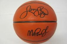 Larry Bird, Magic Johnson NBA Legends signed autographed basketball Certified Co