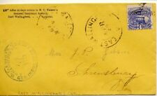 Vermont, 1869 3c Locomotive stamp postmarked East Wallingford, Corner Card