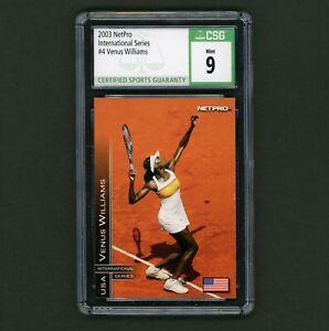 2003 NetPro International Series Venus Williams Rookie CSG 9 Sharp Card 7 Slams