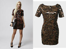 Topshop Sequin Party Short Sleeve Dresses for Women