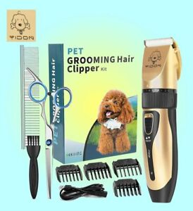 YiDon Rechargeable Cordless Professional Pet Grooming Hair Clipper Kit Scissors