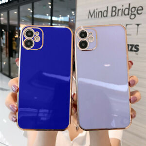 For iPhone 12 Pro 11 Pro Max XS XR X 8 7 Shockproof Plating Silicone Case Cover