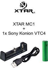 Ladeset 11 - 1x Akku Sony Konion 18650 VTC4 und 1x XTAR MC1 Ladegerät
