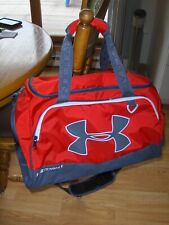 Under Armour Sport Sack Storm Red and Gray Duffle Bag Water Resistant Tote NEW