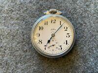 Swiss Made Hilltop Elex 17 Jewels Incabloc Mechanical Wind Up Pocket Watch