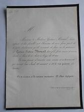 Gustave Frederic MONOD décédé à PARIS le 14 Aout 1860 à l'age de 18 ANS