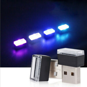 Car Interior Ambient Light Neon Atmosphere Lamp USB LED Bulb Vehicle Accessories