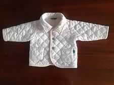 Pink Quilted United Colors Of Benetton Baby Girl Jacket 6Mths