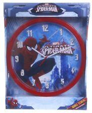 "OFFICIAL NEW 10"" MARVEL SPIDERMAN WALL CLOCK CHILDRENS CLOCK BEDROOM CLOCK"