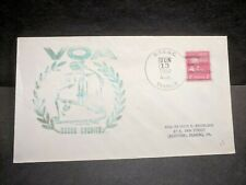 USCGC COURIER WAGR-410 Naval Cover 1952 VOA Voice of AMERICA Cachet USCG Cancel